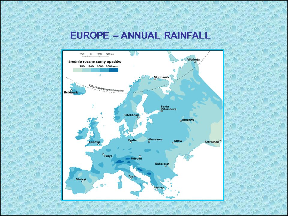 EUROPE – ANNUAL RAINFALL