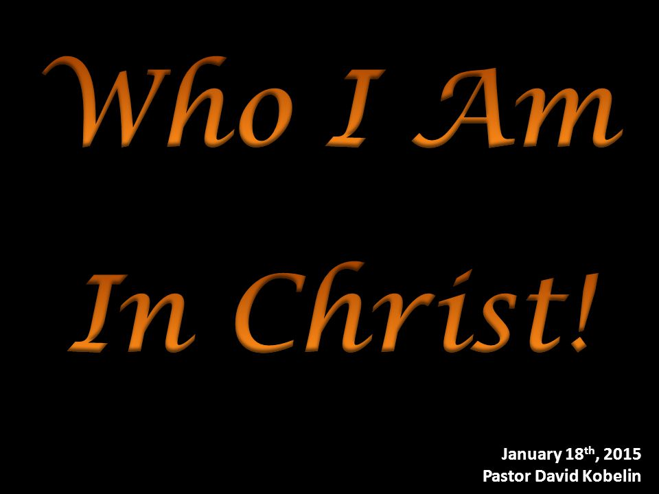 II.In Christ a.In Christ, I am the salt of the earth.