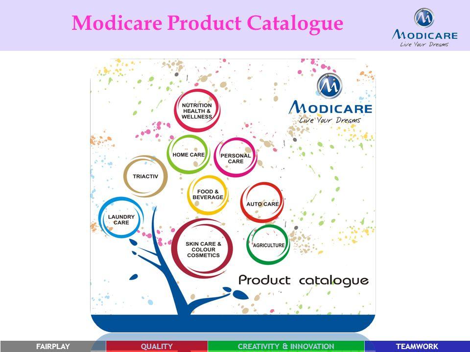 FAIRPLAYQUALITYCREATIVITY & INNOVATIONTEAMWORK Modicare Product Catalogue