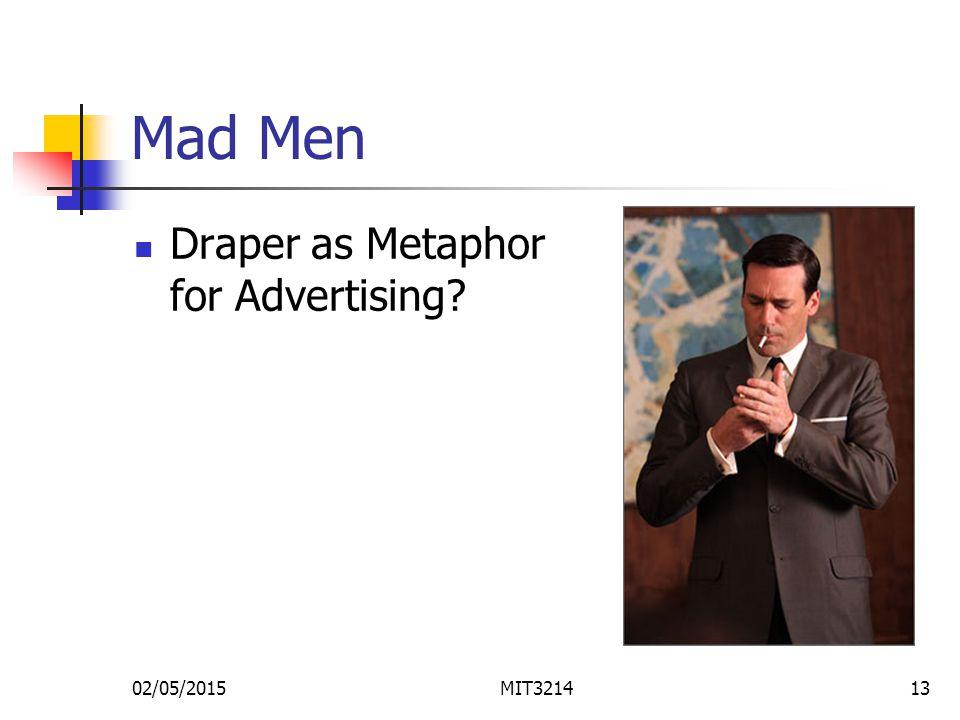 Mad Men Draper as Metaphor for Advertising 02/05/2015MIT321413