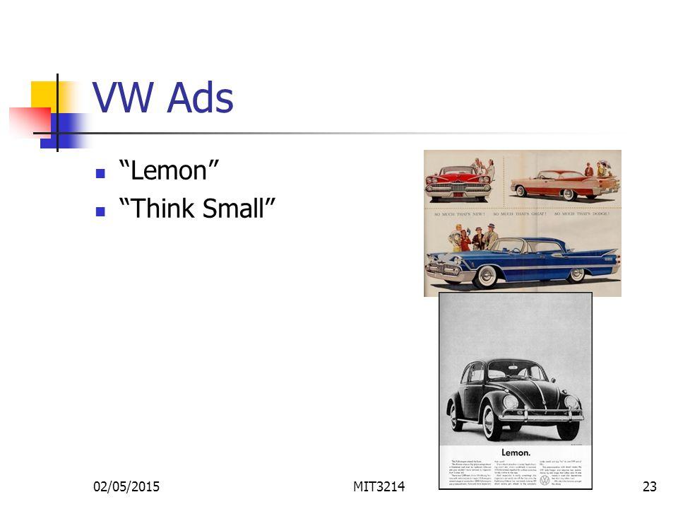 02/05/2015MIT321423 VW Ads Lemon Think Small