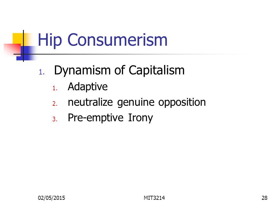 02/05/2015MIT321428 Hip Consumerism 1. Dynamism of Capitalism 1.