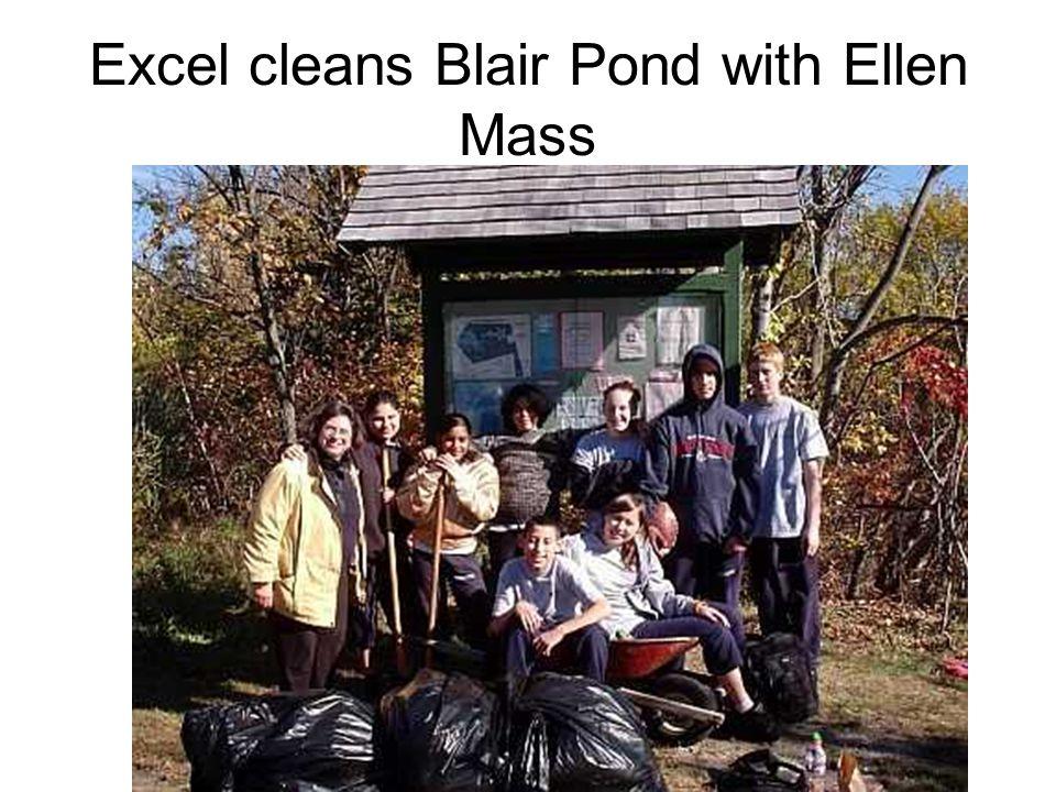 Excel cleans Blair Pond with Ellen Mass