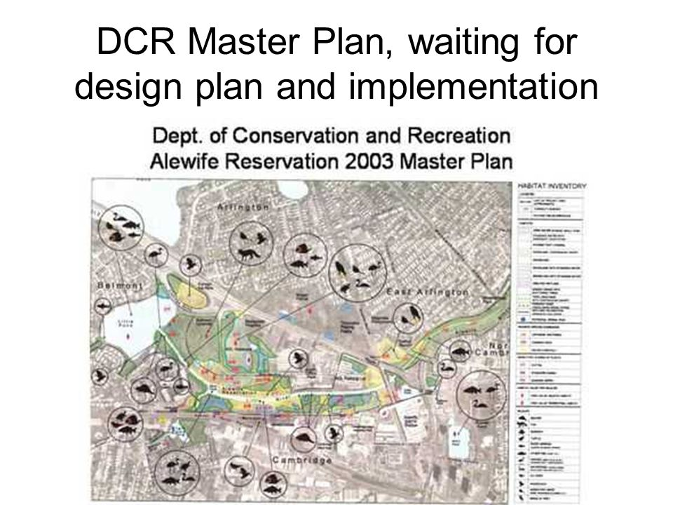 DCR Master Plan, waiting for design plan and implementation