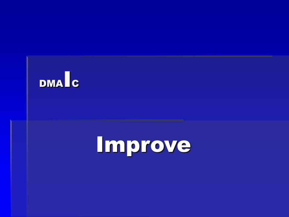 DMA I C Improve