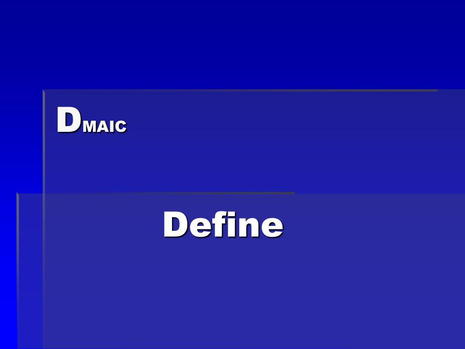 D MAIC Define