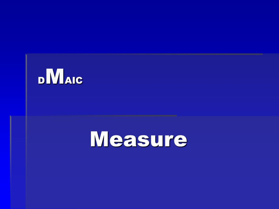 D M AIC Measure