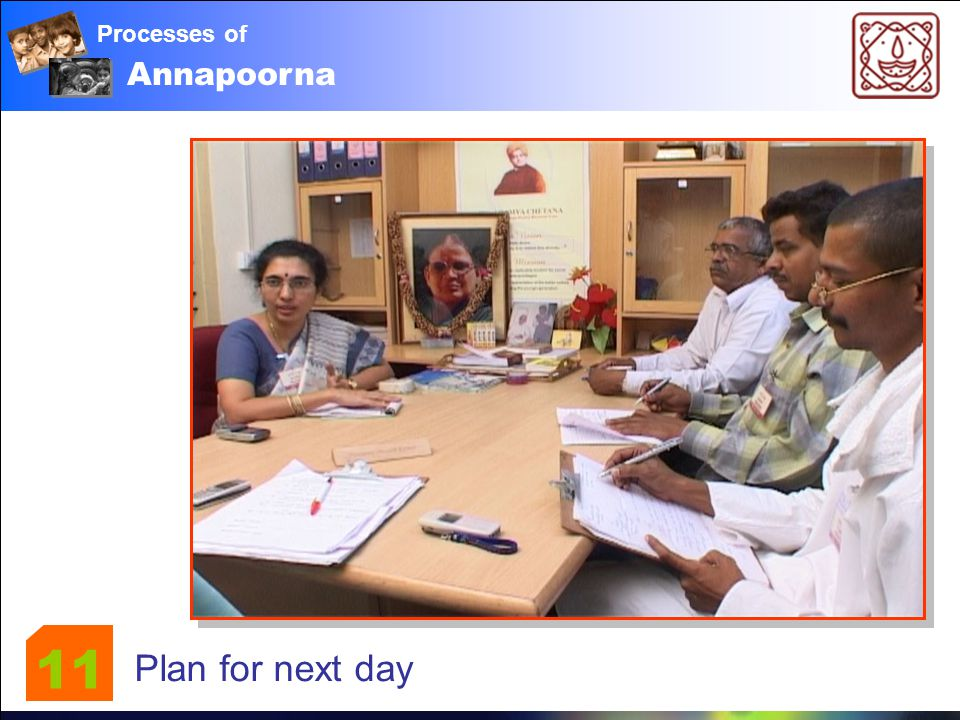 Annapoorna Processes of Plan for next day 11