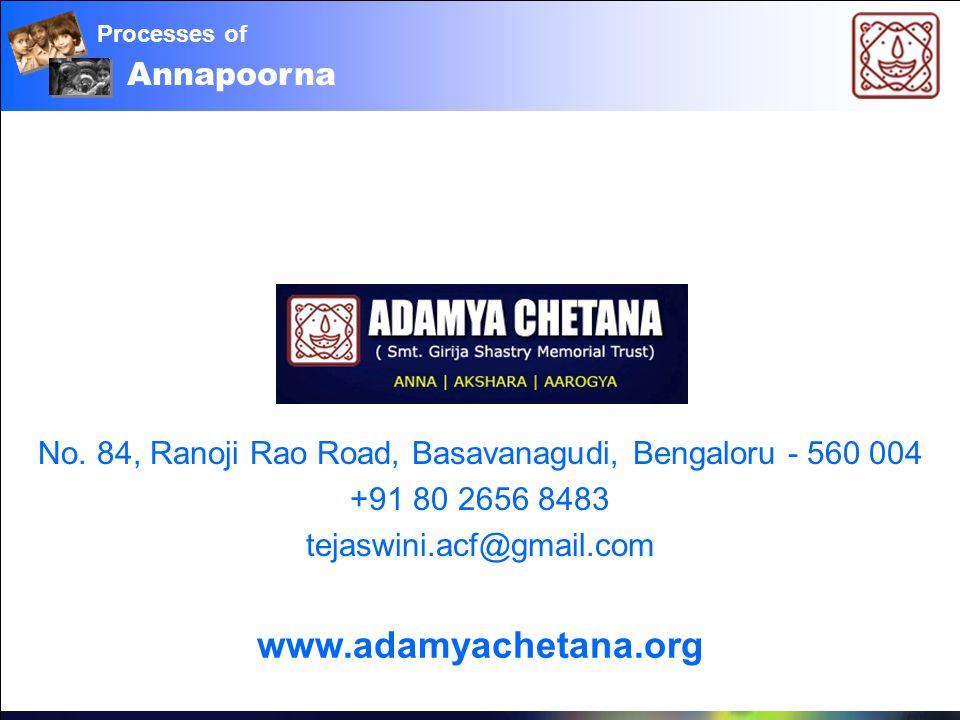 Annapoorna Processes of www.adamyachetana.org No.