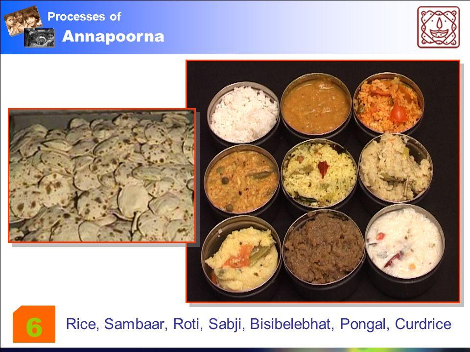 Annapoorna Processes of Rice, Sambaar, Roti, Sabji, Bisibelebhat, Pongal, Curdrice 6