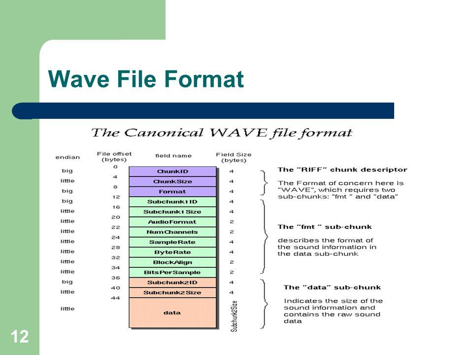 12 Wave File Format