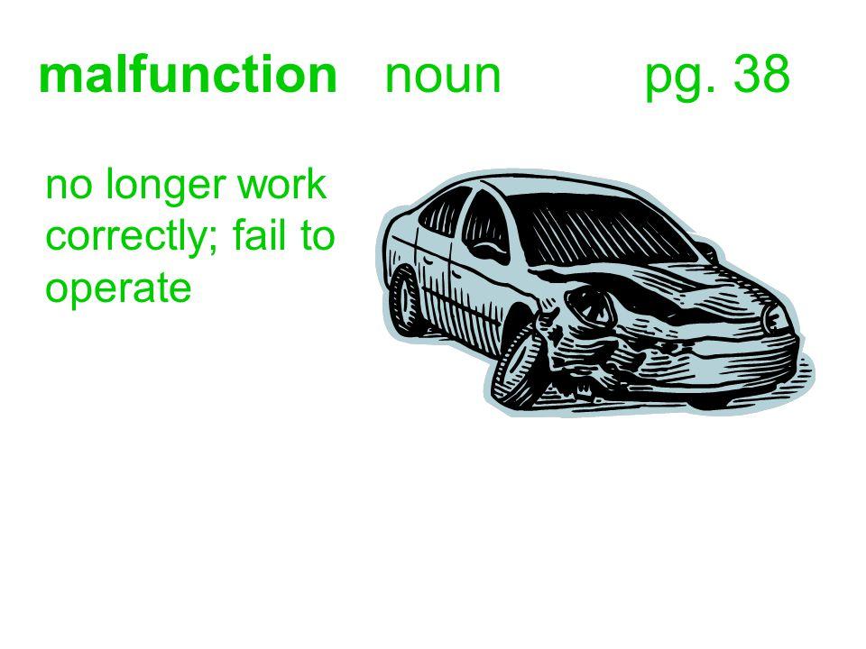 malfunctionnounpg. 38 no longer work correctly; fail to operate
