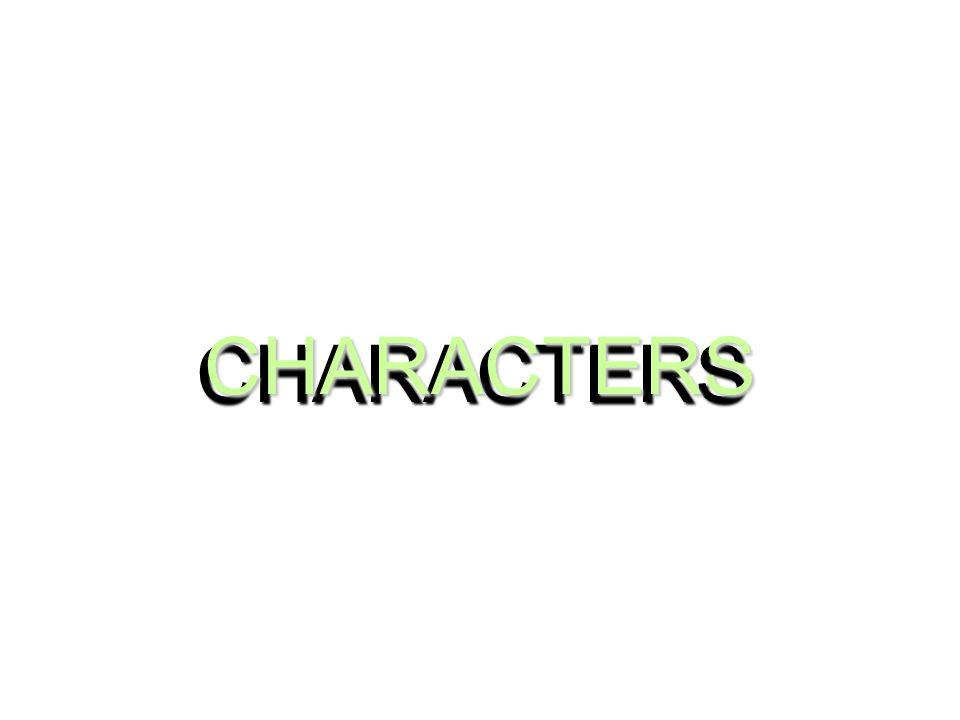 CHARACTERSCHARACTERS