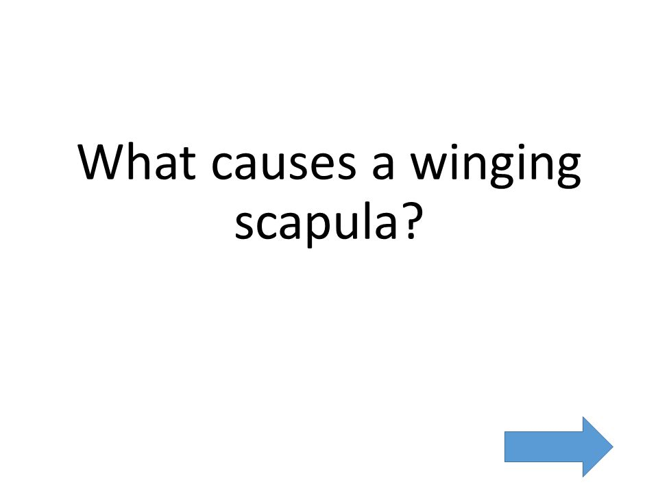 What causes a winging scapula