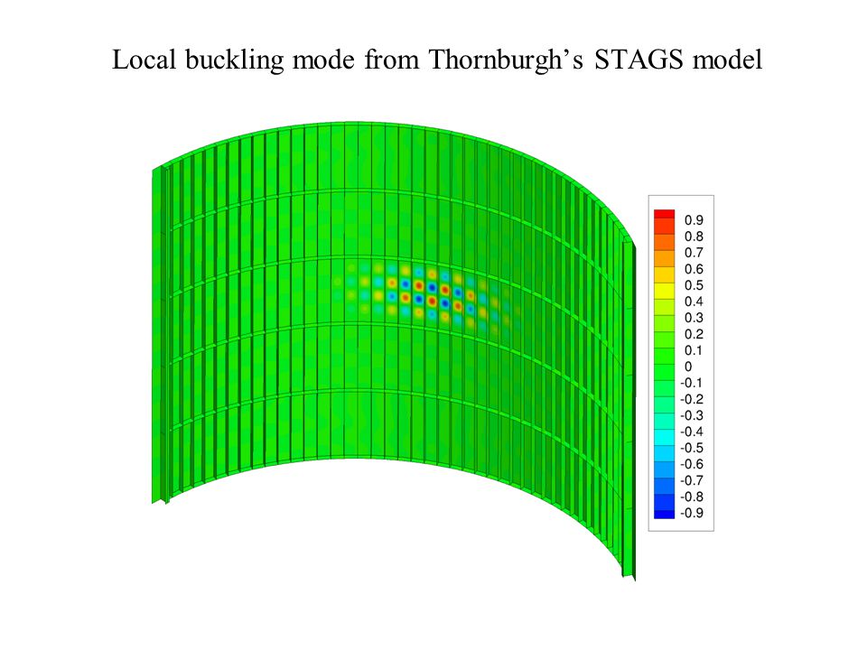 Local buckling mode from Thornburgh's STAGS model