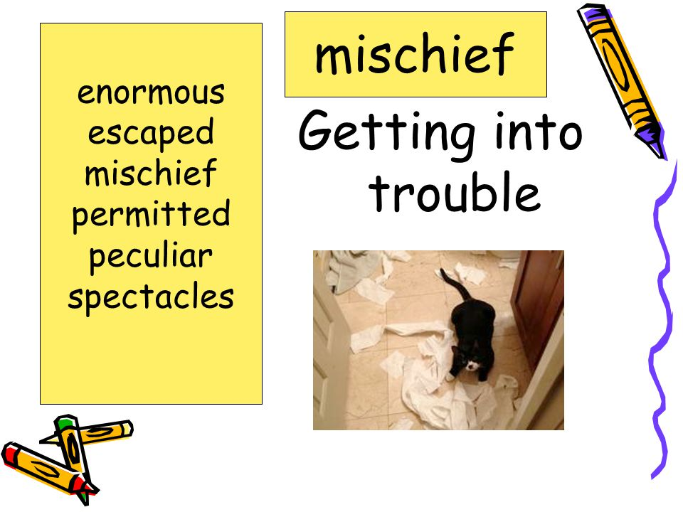 To allow someone to do something permitted enormous escaped mischief permitted peculiar spectacles
