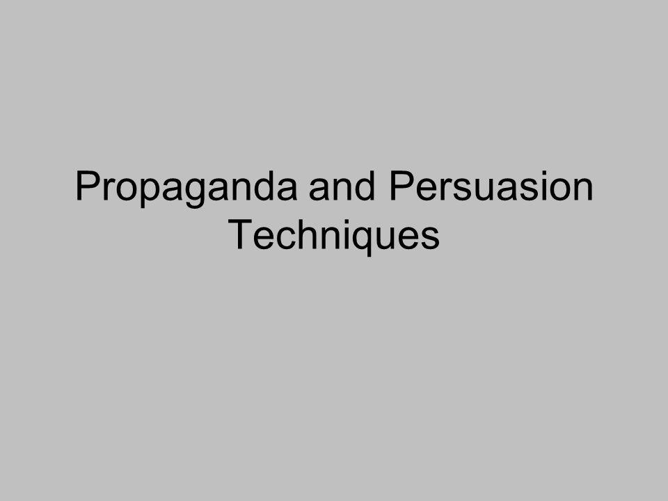 Propaganda and Persuasion Techniques