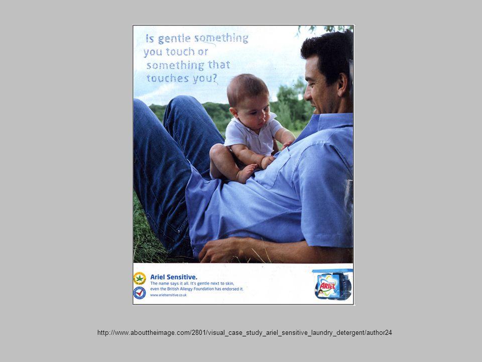 http://www.abouttheimage.com/2801/visual_case_study_ariel_sensitive_laundry_detergent/author24
