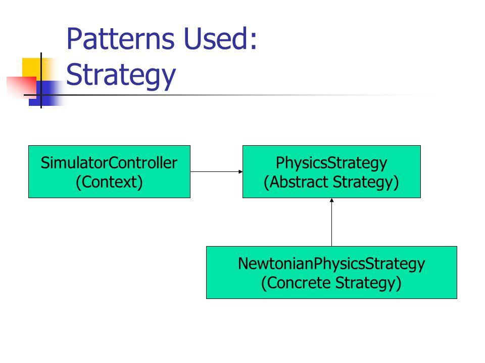 Patterns Used: Observer SimulatorViewer SimulatorControllerViewerListener observes