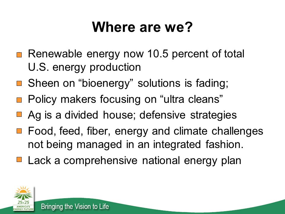 Where are we. Renewable energy now 10.5 percent of total U.S.