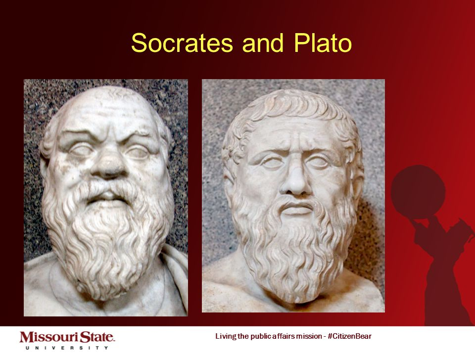 Living the public affairs mission - #CitizenBear Socrates and Plato