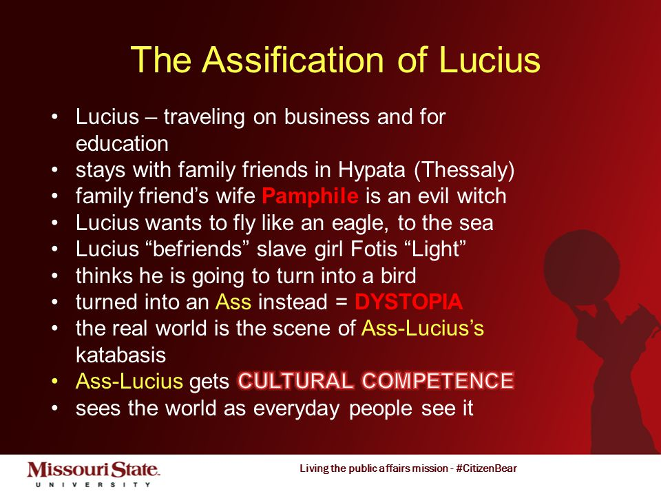 Living the public affairs mission - #CitizenBear The Assification of Lucius