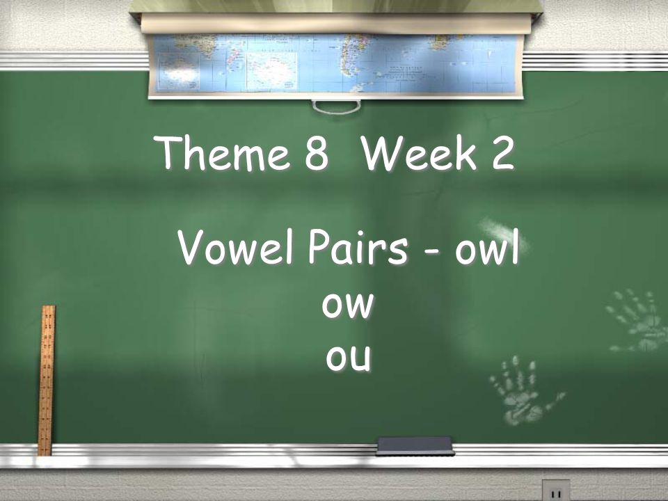 Theme 8 Week 2 Vowel Pairs - owl ow ou Vowel Pairs - owl ow ou