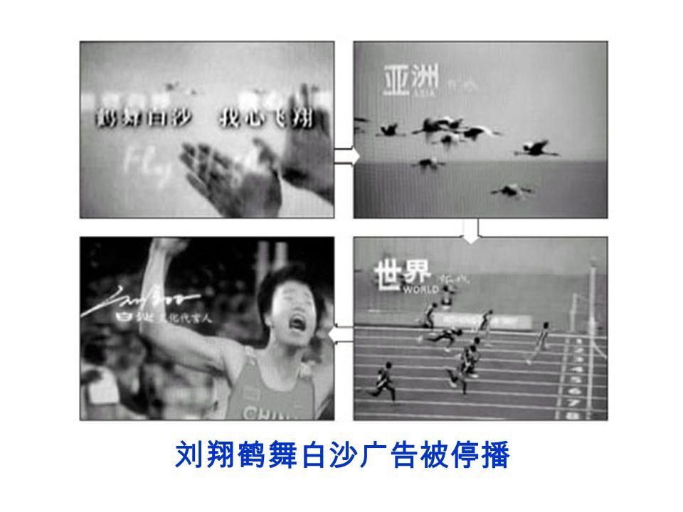 刘翔鹤舞白沙广告被停播