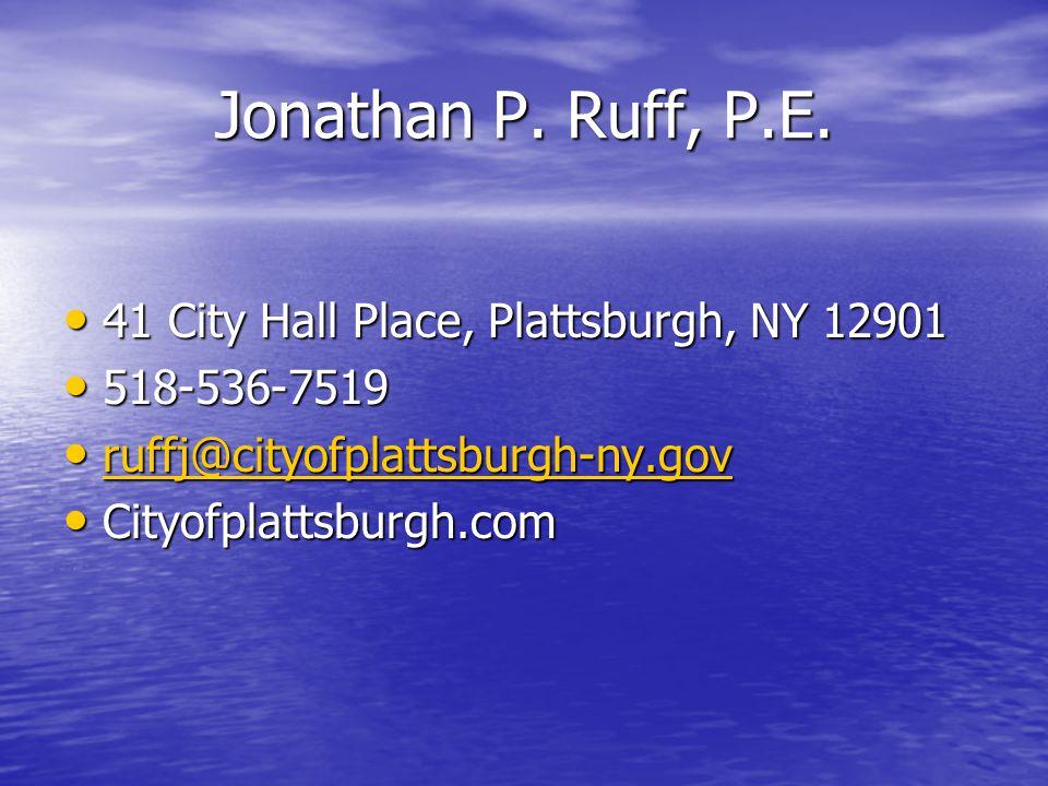 Jonathan P. Ruff, P.E.