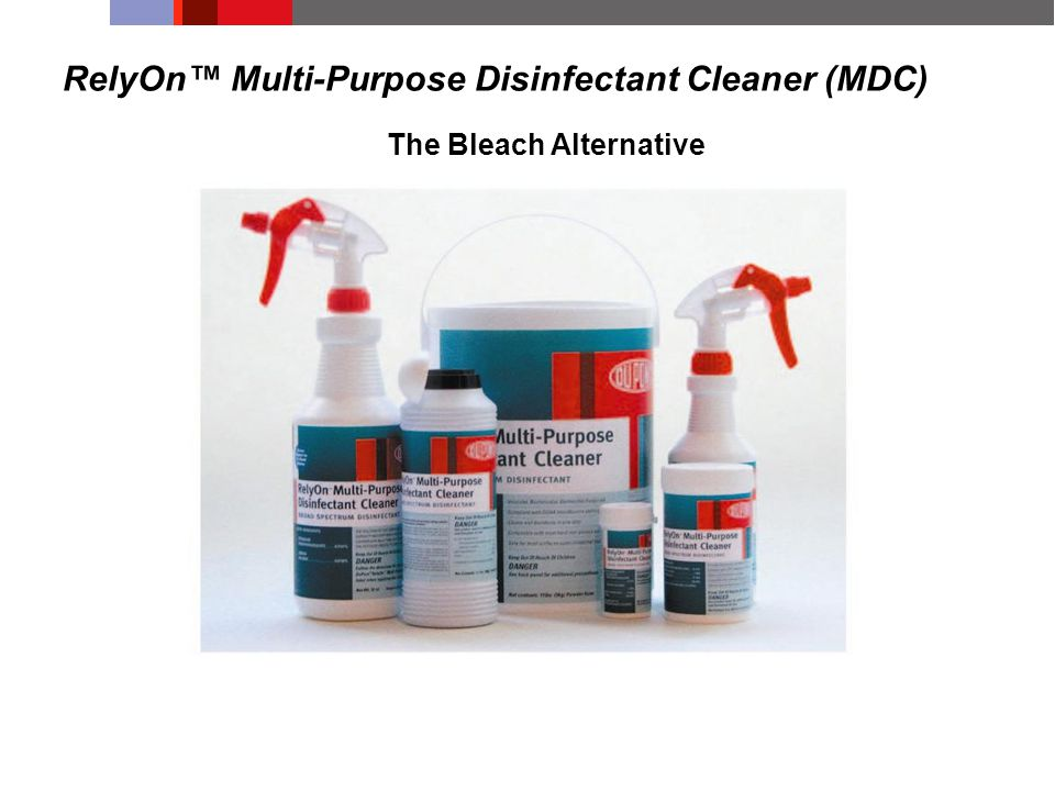 RelyOn™ Multi-Purpose Disinfectant Cleaner (MDC) The Bleach Alternative
