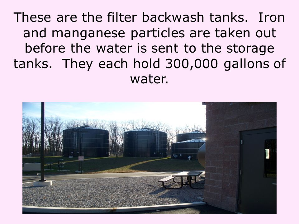 These are the filter backwash tanks.