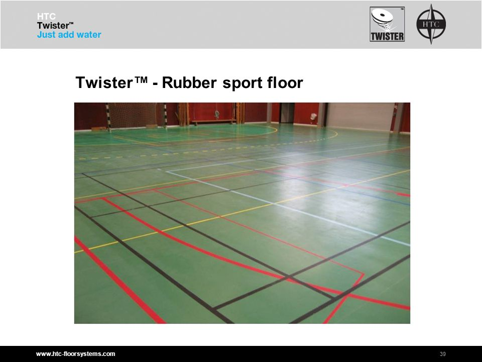 www.htc-floorsystems.com Twister™ - Rubber sport floor 39