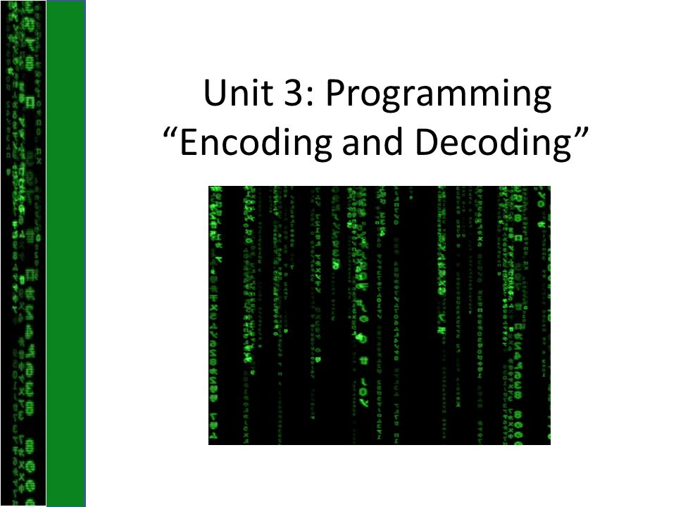 Encoding and Decoding [ P ] = superIncreasing( M,N ) Hint: Pick a random number between 1-5 Add this number to the superincreasing series Repeat – Sum the series – Add to the sum a random number between 1-5 – Add that new number to the series