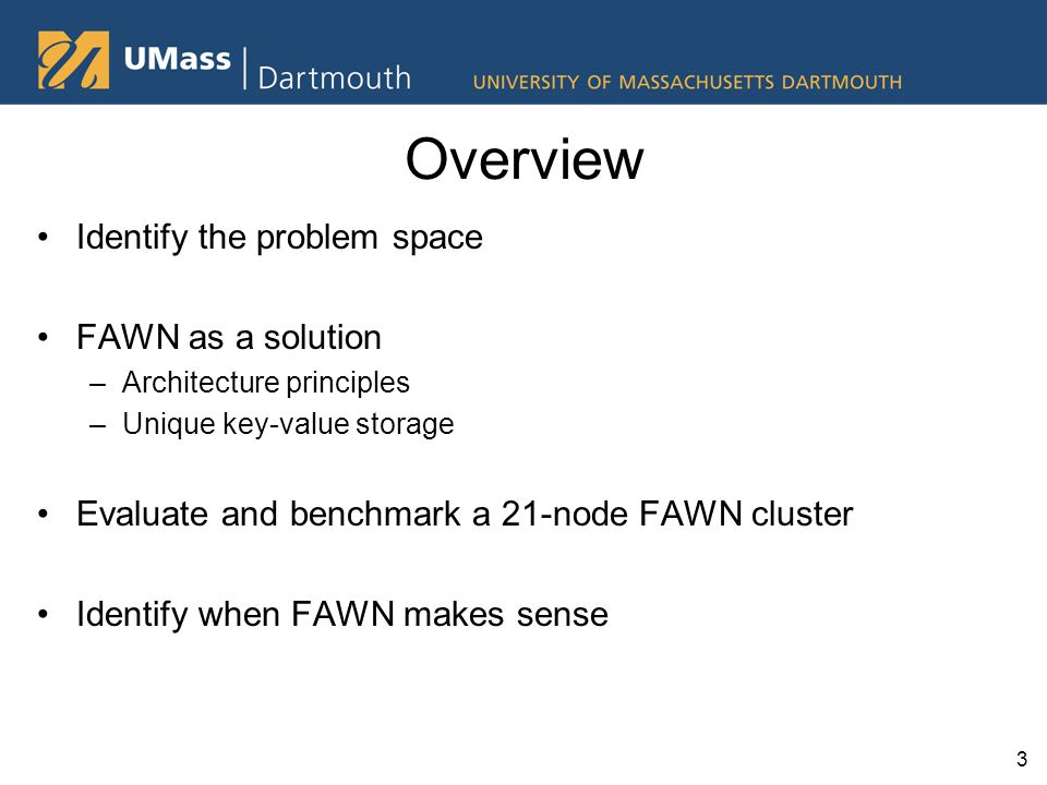 When does FAWN matter? It depends on the workload… 24