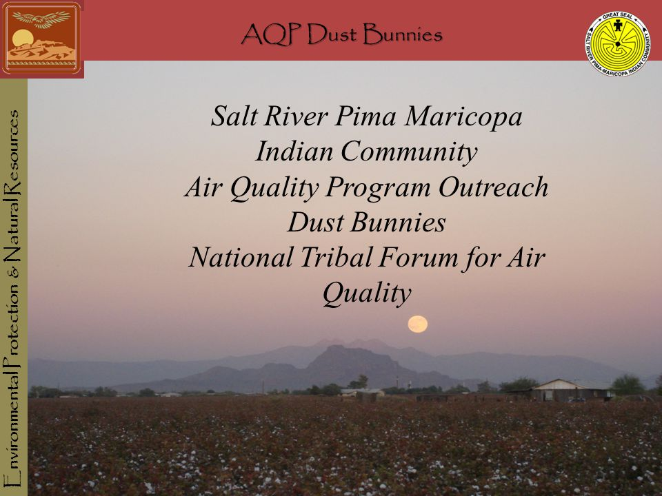 AQP Dust Bunnies Environmental Protection & Natural Resources AQP Dust Bunnies Salt River Pima Maricopa Indian Community Air Quality Program Outreach Dust Bunnies National Tribal Forum for Air Quality