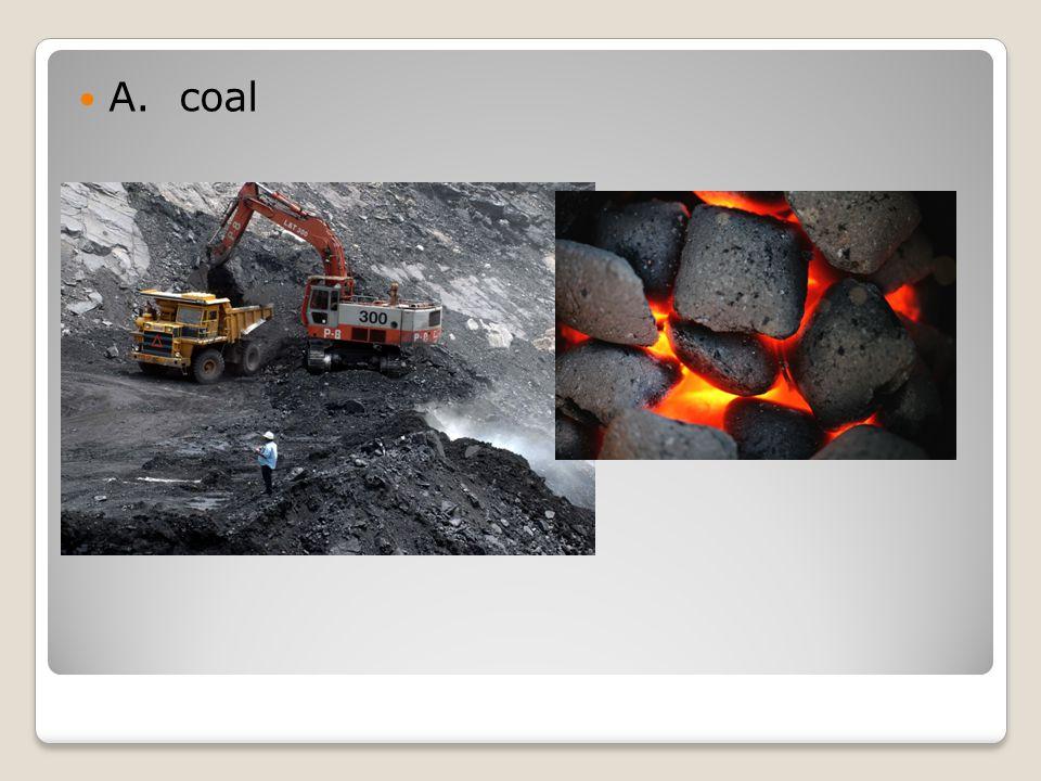 A. coal