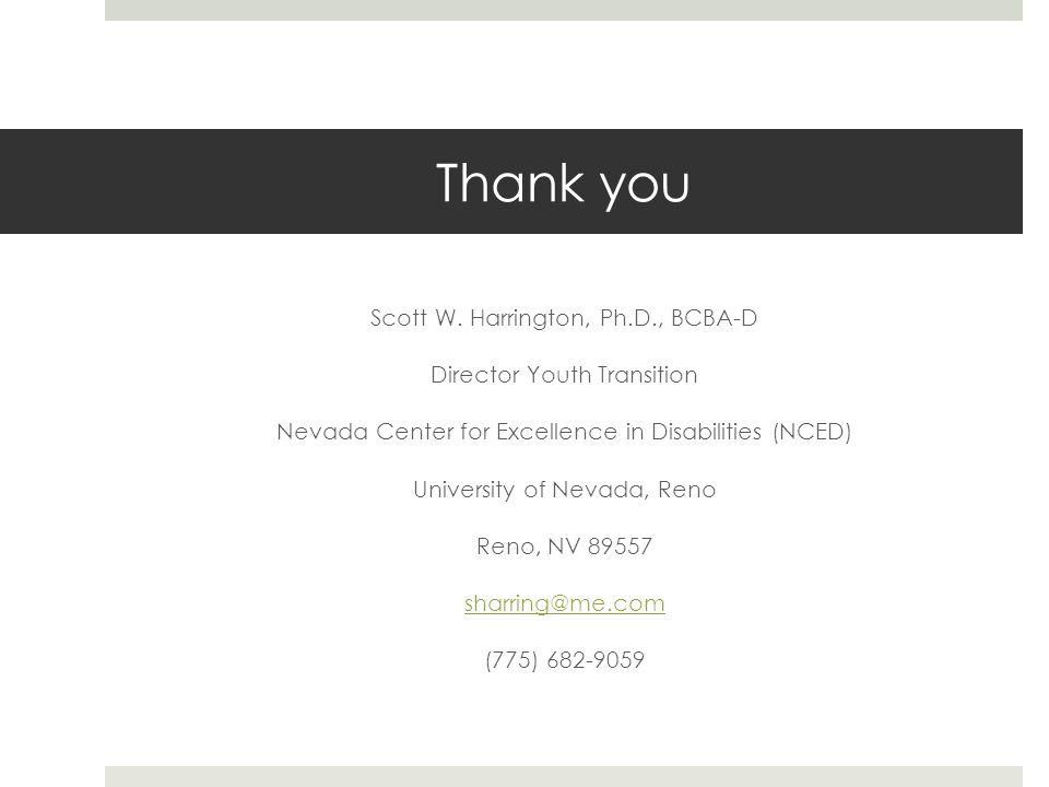 Thank you Scott W.