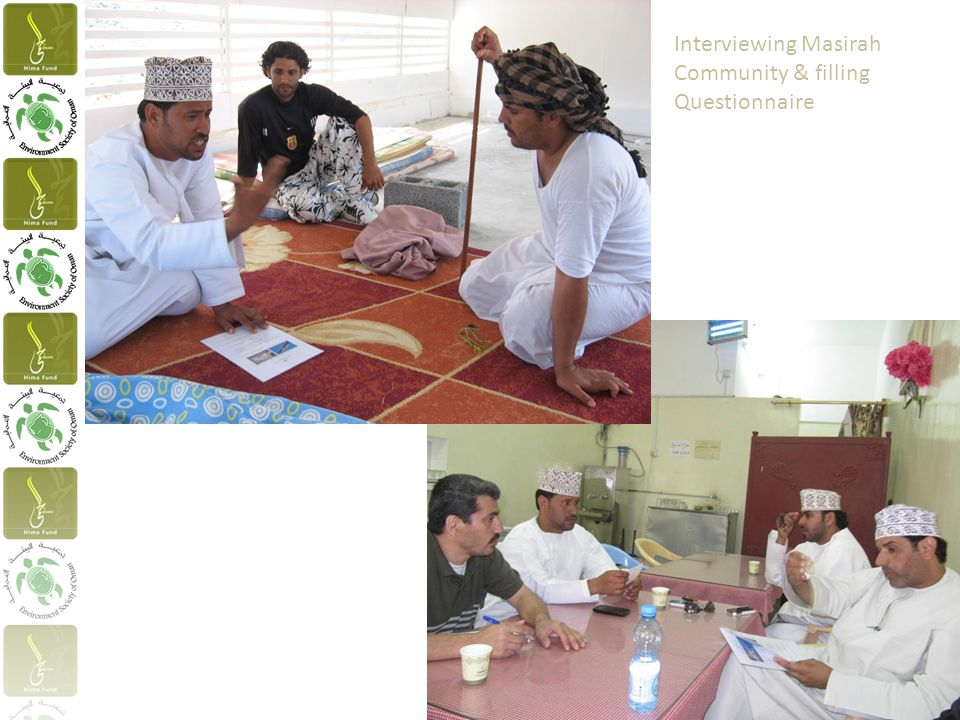 Interviewing Masirah Community & filling Questionnaire