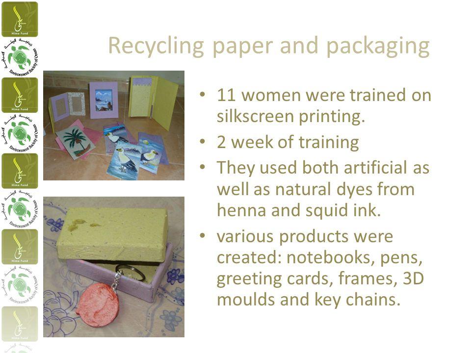 11 women were trained on silkscreen printing.