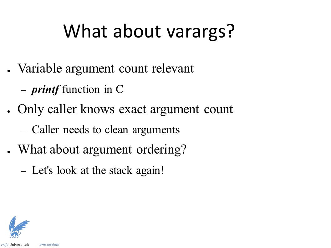 What about varargs.