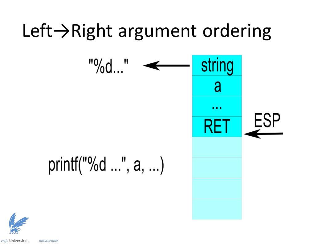 Left→Right argument ordering