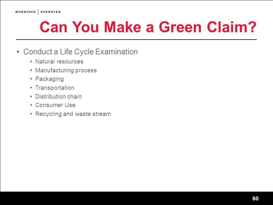60 Can You Make a Green Claim.