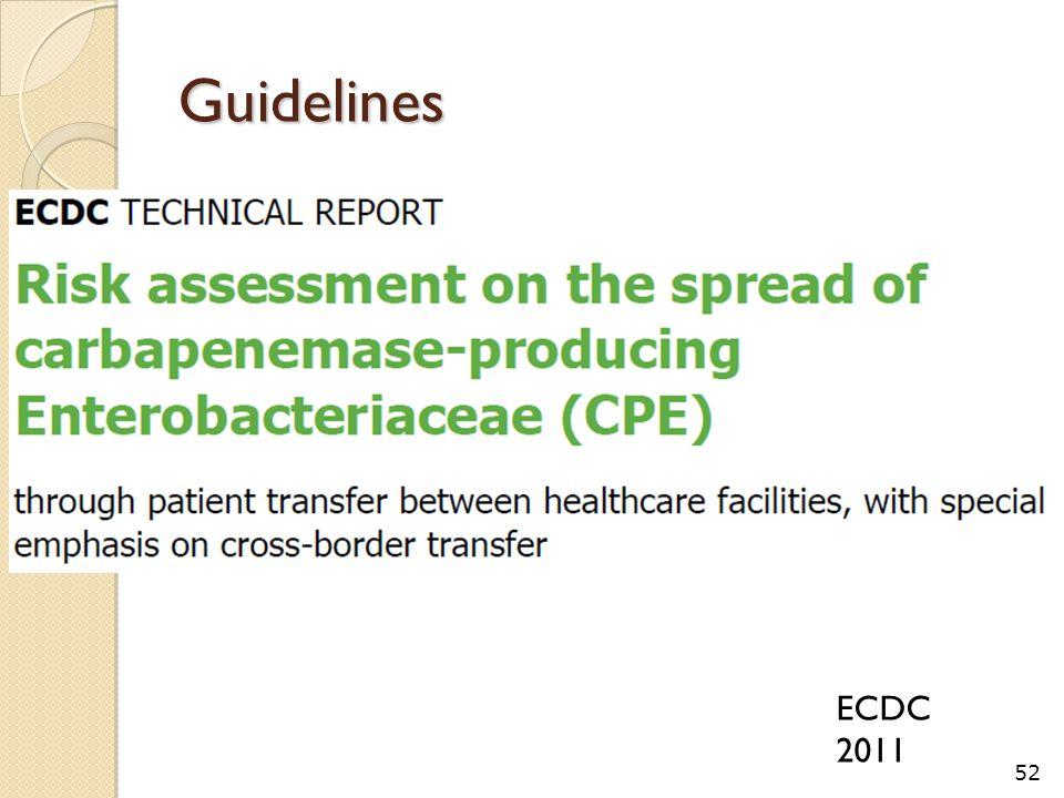 Guidelines 52 ECDC 2011