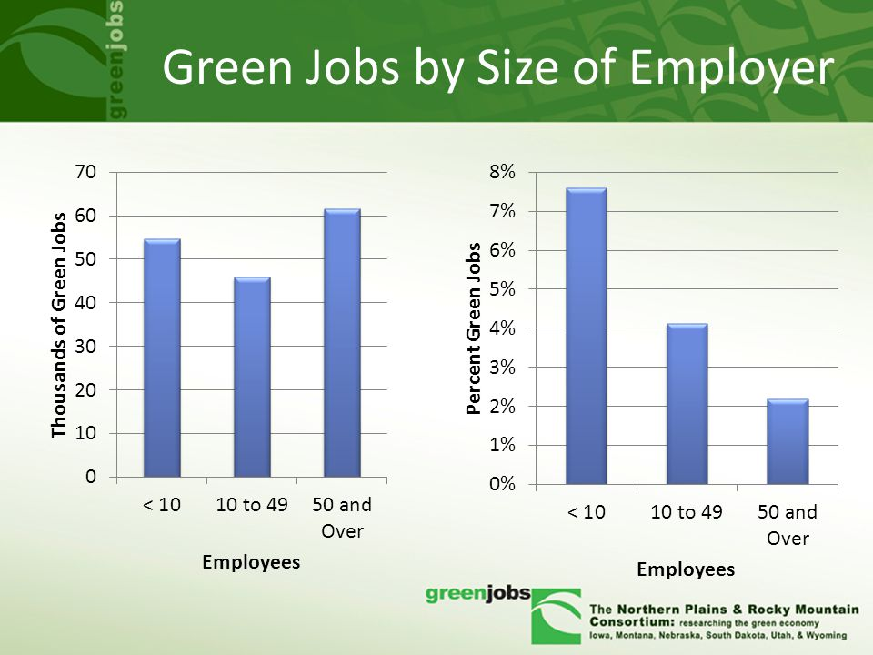 Green Jobs by Size of Employer