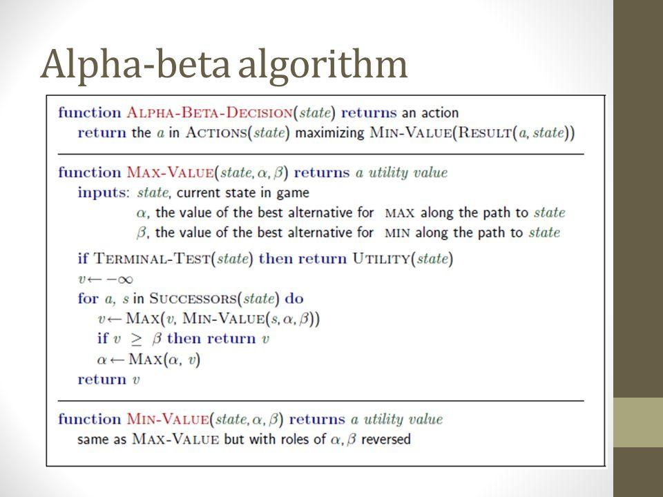 Alpha-beta algorithm