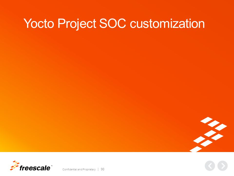 TM Confidential and Proprietary 90 Yocto Project SOC customization