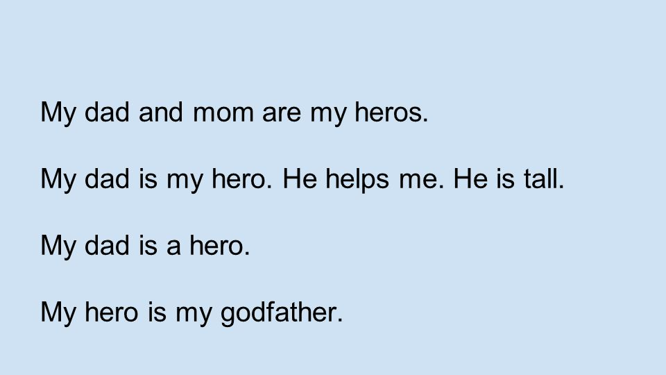 my dad my hero essay