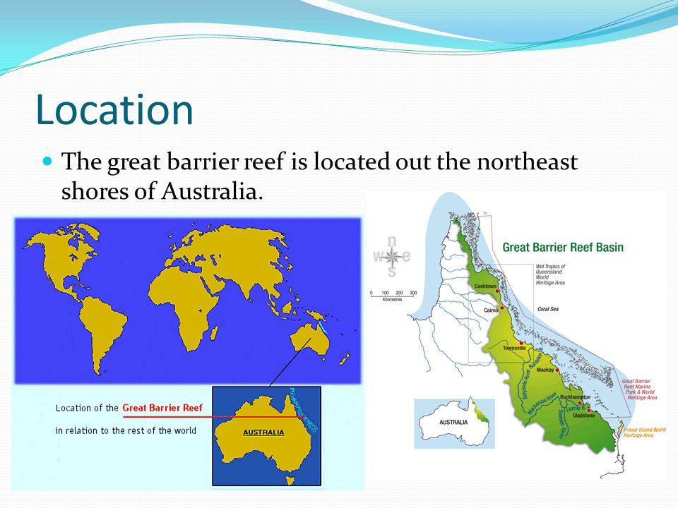 Topography largest extent of coral reefs on Earth geographic range (24°30 N to10°41 S, 145°00 to 154°00 E) extends for more than 2000 kilometres within the Coral Sea off the eastern coast of Australia.