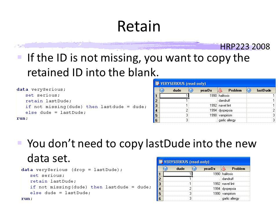 HRP223 2008 Retain Both
