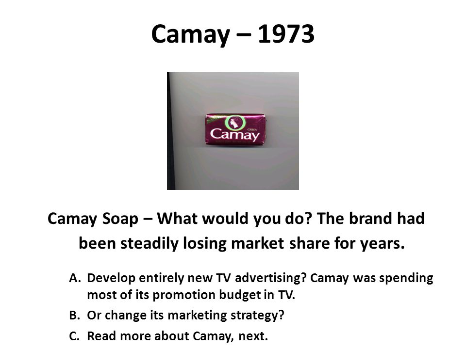 Camay – 1973 Camay Soap – What would you do.